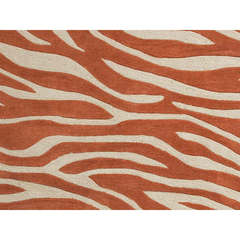 Buy Jaipur Rugs Modern Animal Print Pattern Red and Orange Polyester Tufted Rug - BR37 on sale online
