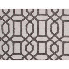 Buy Jaipur Rugs Modern Geometric Pattern Gray and Black Wool and Silk Tufted Rug - CT07 on sale online