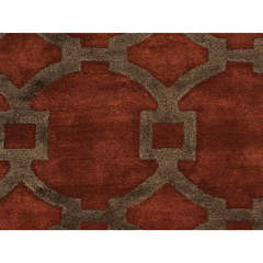 Buy Jaipur Rugs Modern Geometric Pattern Red and Orange Wool and Silk Tufted Rug - CT04 on sale online