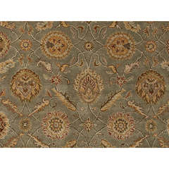 Traditional Oriental Pattern Green Wool Tufted Rug - MY06