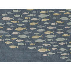 Buy Jaipur Rugs Transitional Animal Print Pattern Blue Wool and Silk Tufted Rug - CH01 on sale online