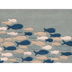 Buy Jaipur Rugs Transitional Animal Print Pattern Blue Wool and Silk Tufted Rug - CH03 on sale online