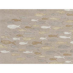 Buy Jaipur Rugs Transitional Animal Print Pattern Ivory and White Wool and Silk Tufted Rug - CH15 on sale online