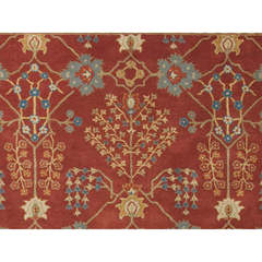 Buy Jaipur Rugs Transitional Arts & Crafts Pattern Red and Orange Wool Tufted Rug - PM80 on sale online
