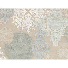 Buy Jaipur Rugs Transitional Floral Pattern Blue Viscose and Chenille Rug - FB19 on sale online