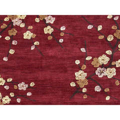 Buy Jaipur Rugs Transitional Floral Pattern Red and Orange Polyester Tufted Rug - BR17 on sale online