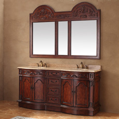 Buy James Martin Amalfi 72x23 Double Travertine Top Vanity in Cherry on sale online