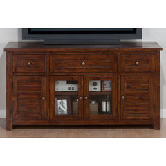 Buy Jofran 020 Series Urban Lodge Brown 60x19 Rectangular Media Unit w/ 3 Drawers and 4 Doors on sale online