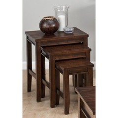 Buy Jofran 731 Series Urban Lodge Brown 21x17 3 Nesting Chairside Table (Set of 3) on sale online