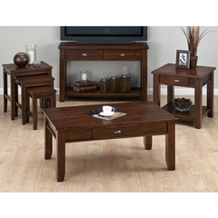 Buy Jofran 731 Series Urban Lodge Brown 4 Piece Occasional Table Set on sale online