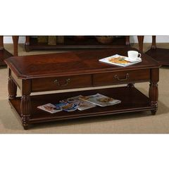 Buy Jofran Altus Cherry 48x26 Rectangular Castered Cocktail w/ 4 Drawers on sale online