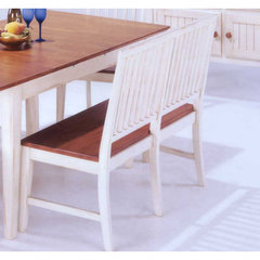 Buy Jofran Antique White Mission Bench in Toffee Brown on sale online