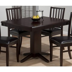 Buy Jofran Aspen Merlot 44x36 Rectangular Dining Table w/ Fixed Table Top and Clipped Corners on sale online