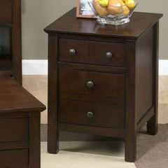 Buy Jofran Aston Cherry 22x18 Rectangular Mini End Table w/ 2 Drawers on sale online