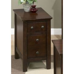 Buy Jofran Aston Cherry 24x14 Rectangular Mini Chairside Table in Cherry on sale online