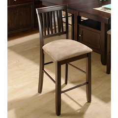 Buy Jofran Baker Contemporary Slat Back 26 Inch Counter Height Stool on sale online