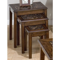 Buy Jofran Baroque Brown 21x17 Nesting Chairside Table on sale online