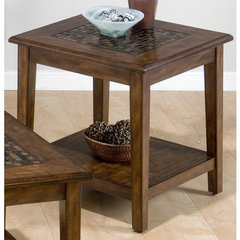Buy Jofran Baroque Brown 24x24 End Table on sale online