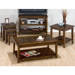 Buy Jofran Baroque Brown 4 Piece Occasional Table Set on sale online