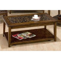 Buy Jofran Baroque Brown 48x26 Rectangular Cocktail Table w/ Lift Top on sale online