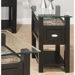 Buy Jofran Basic Chairside Table w/ Glass Top on sale online