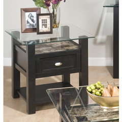 Buy Jofran Basic End Table w/ Glass Top on sale online
