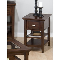 Buy Jofran Bellingham Brown 22x16 Chairside Table on sale online