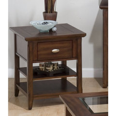 Buy Jofran Bellingham Brown 22x20 End Table on sale online