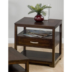 Accent your Living Room with the Jofran Binali Birch 24 x 22 End Table!