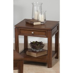 Buy Jofran Bowie Birch 24x22 Rectangular End Table w/ Drawer and Shelf on sale online