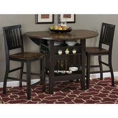 Buy Jofran Braden Birch 3 Piece Round 48x48 Counter Height Set w/ Drop Leaf on sale online