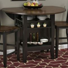 Buy Jofran Braden Birch 48x48 Round Counter Height Table w/ Drop Leaf on sale online