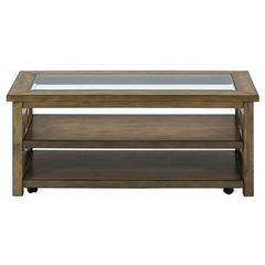 Buy Jofran Brady Birch 48x24 Rectangular Cocktail Table w/ 2 Shelves on sale online