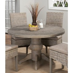 Buy Jofran Burnt Grey 48x48 Round Dining Table w/ Fixed Top on sale online
