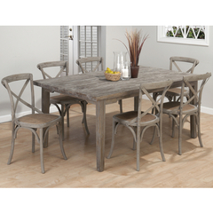 Buy Jofran Burnt Grey 7 Piece 72x42 Dining Room Set w/ X Back Side Chair on sale online