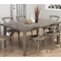 Buy Jofran Burnt Grey 72x42 Rectangular Leg Table w/ Fixed Top on sale online