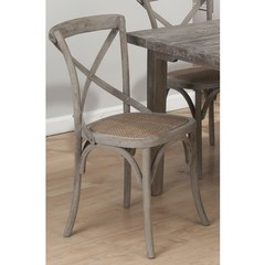 Buy Jofran Burnt Grey Side Chair w/ Full Weave Seat and X Back on sale online