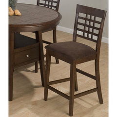 Buy Jofran Caleb Chocolate Microfiber Counter Height Stool on sale online