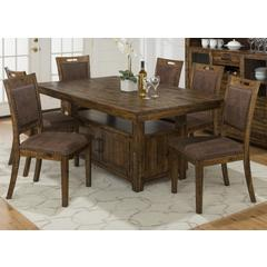 Buy Jofran Cannon Valley 7 Piece 72x42 Rectangular Dining Set on sale online