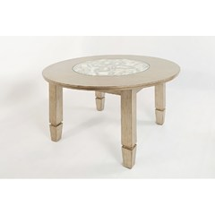 Buy Jofran Casa Bella 52x52 Round Dining Table in Vintage Silver on sale online