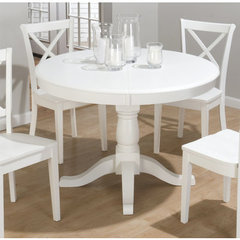 Buy Jofran Casper White 48x48 Dining Table w/ Butterfly Leaf on sale online