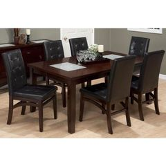 Buy Jofran Chadwick Espresso 7 Piece 60x42 Rectangular Dining Room Set in Espresso, Dark Wood on sale online