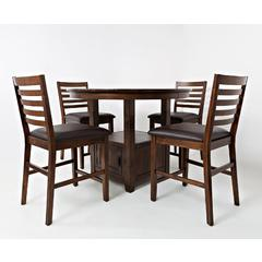 Buy Jofran Coolidge Corner 5 Piece 48x48 Round Counter Set on sale online