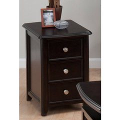 Buy Jofran Corranado Espresso 22x16 Rectangular Chairside Table w/ 2 Drawers on sale online