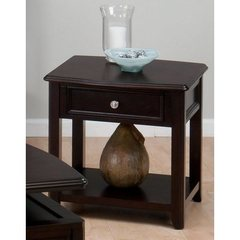 Buy Jofran Corranado Espresso 24x22 Rectangular End Table w/ Drawer and Shelf on sale online