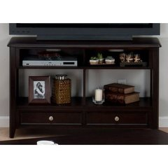 Buy Corranado Espresso 48x18 Rectangular Media Unit w/ 2 Drawers and 2 Shelves on sale online