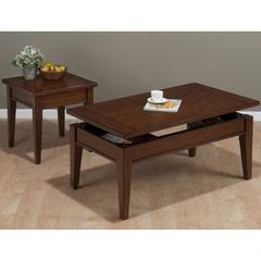 Buy Jofran Dunbar Oak 2 Piece 48x26 Rectangular Occasional Table Set w/ Oak Veneer in Oak, Medium Wood on sale online