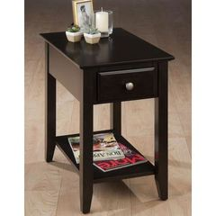 Buy Jofran Espresso 24x16 Rectangular Chairside Table w/ Bookmatch Inlay in Espresso on sale online