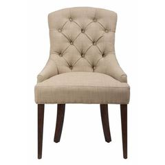 Buy Jofran Geneva Hills Upholstered Side Chair w/ Button Tufting on sale online