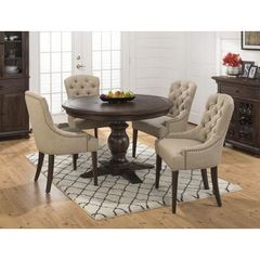 Buy Jofran Geneva Hills 5 Piece 60x48 Round To Oval Dining Room Set in Brown on sale online